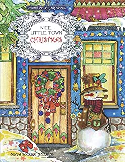 Adult Coloring Book Nice Little Town Christmas