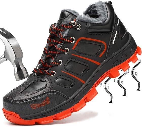 SUADEEX Mujer Hombre Invierno Zapatillas de Seguridad Botas con Puntera de Acero Impermeables Zapatos de Trabajo Entrenador Unisex Zapatillas de Senderismo: Amazon.es: Zapatos y complementos