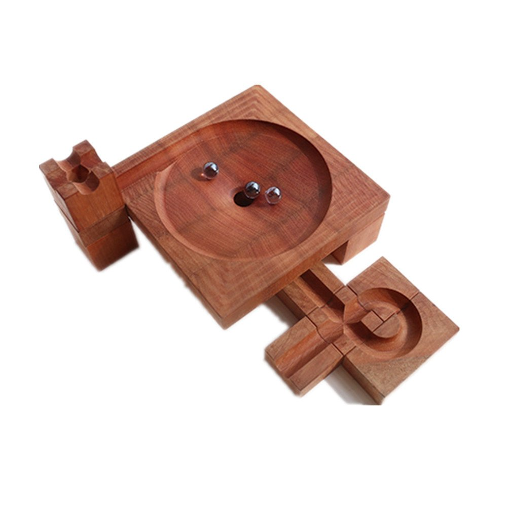 15pcs Solid Wood Track Marble Maze Start Marble Run