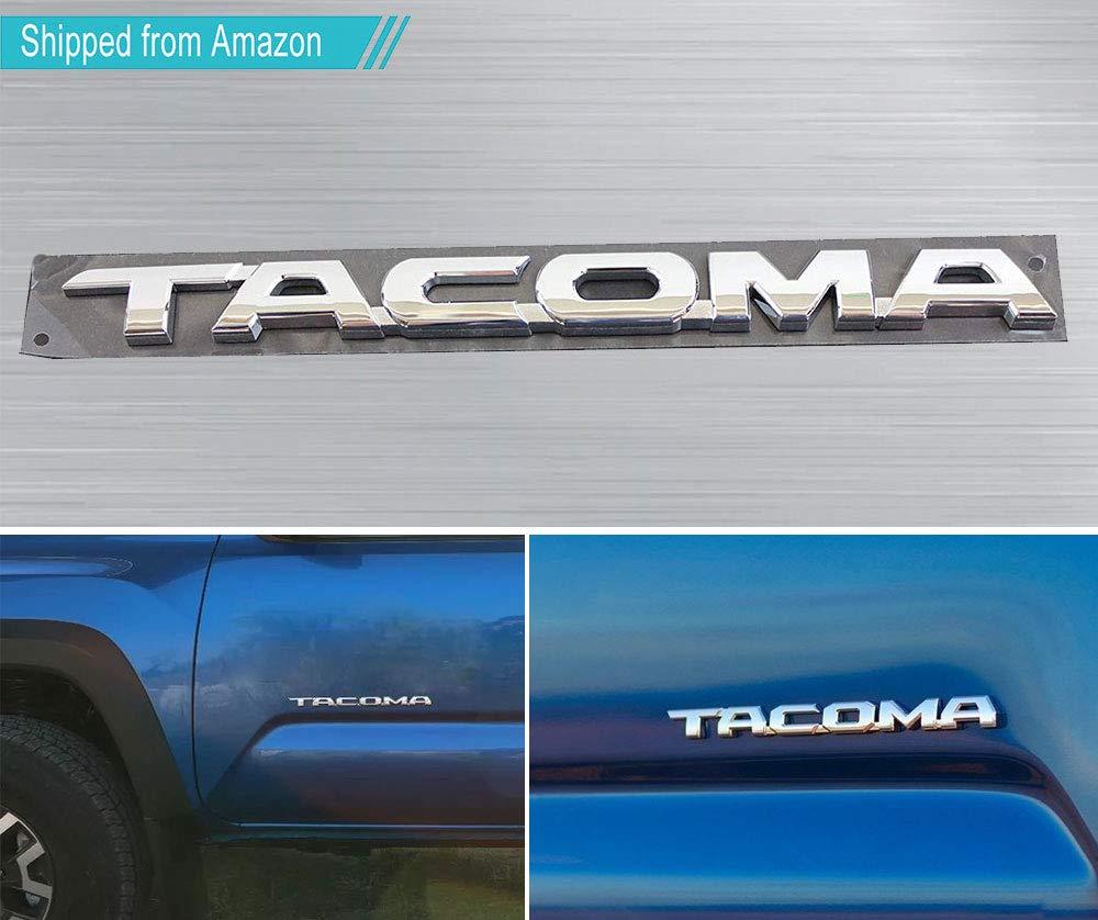 7 x For Tacoma Matte Black Tag Door Fender Emblem Decal Badge Nameplate
