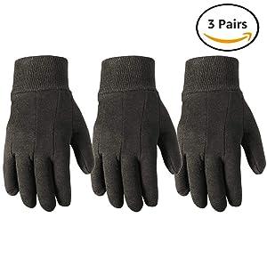 Wells Lamont Work Gloves, Jersey Basic, Wearpower, 3 Pair Pack (508LF)