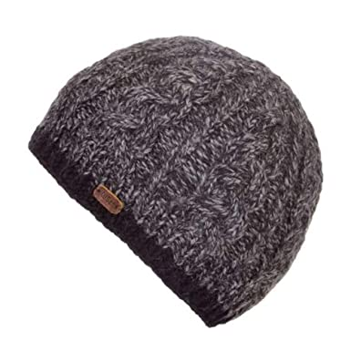 f62591a6f4f Kusan 100% Wool Cable Twisted Yarm Beanie Hat PK1727 (Navy)  Amazon ...