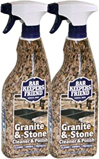 product image for Bar Keepers Friend Granite & Stone Cleaner & Polish (25.4 oz) Granite Cleaner for Use on Natural, Manufactured & Polished Stone, Quartz, Silestone, Soapstone, Marble - Countertop Cleaner & Polish (2)
