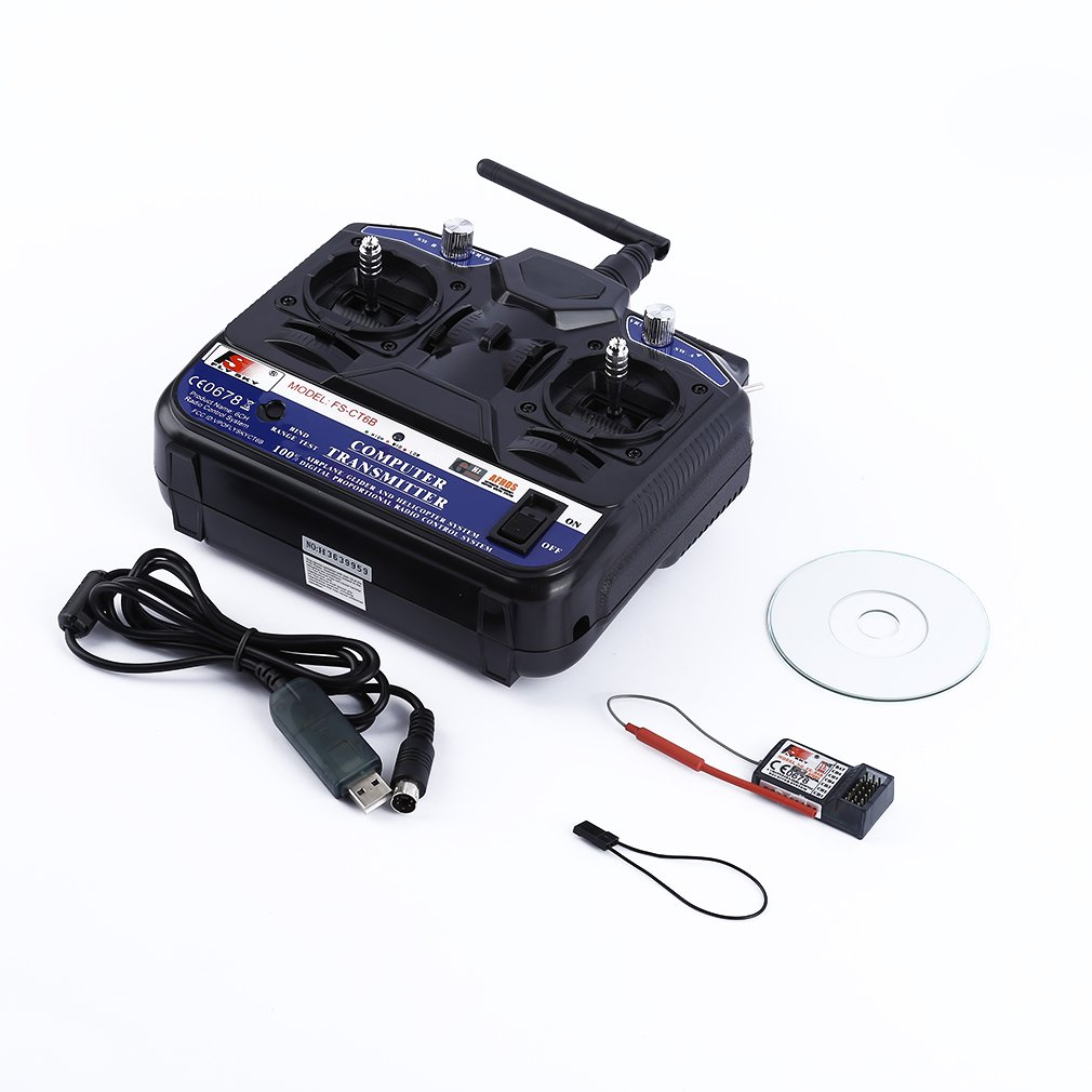 Premium Quality FLYSKY S-CT6B 2.4GHz 6 Channel Radio Model RC Transmitter and Receiver Radio System