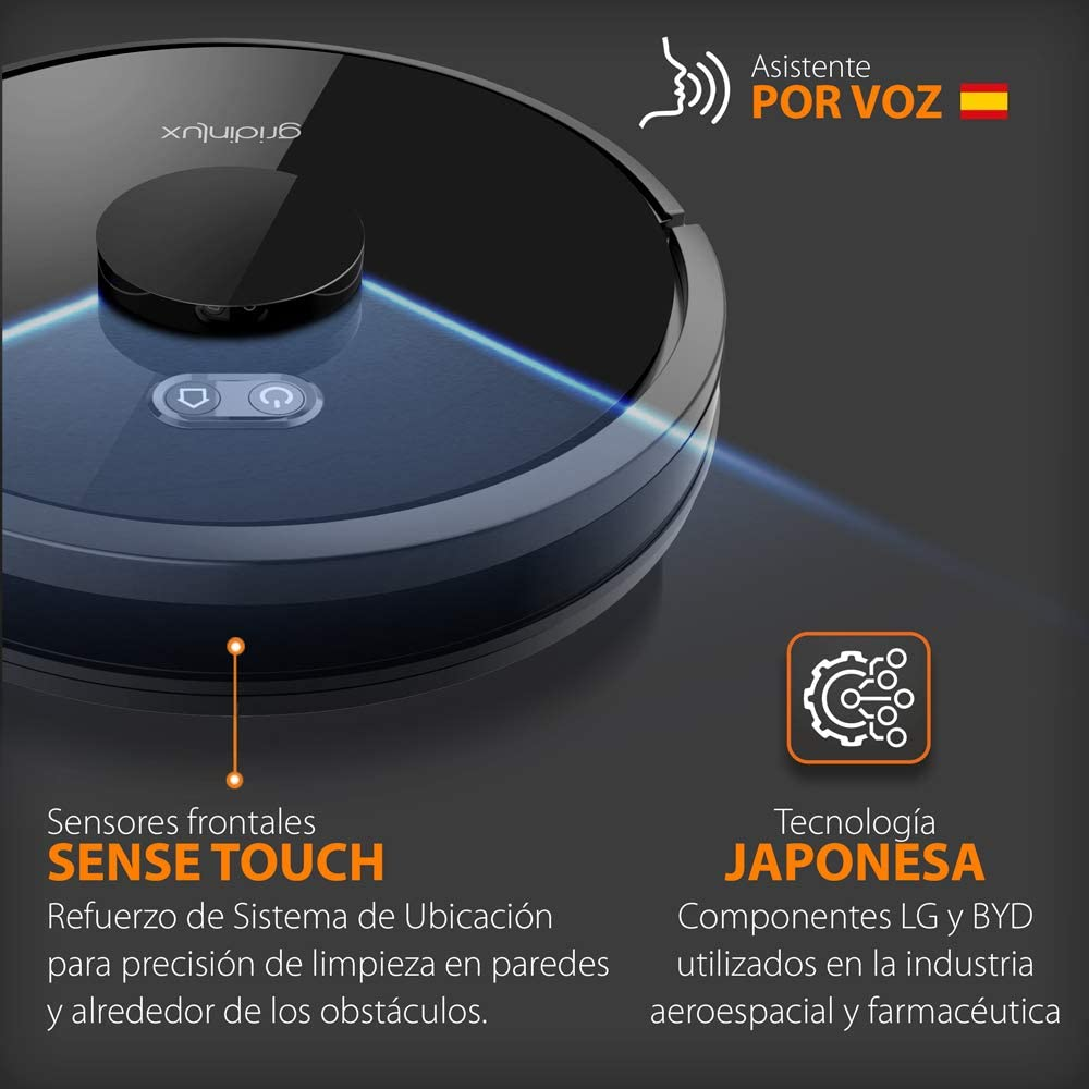 gridinlux. Robot Aspirador Cosmos Space 360º. Tecnología láser ...