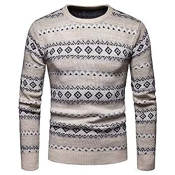 Amazon.com: MODOQO Men's Christmas Sweater Crewneck Long
