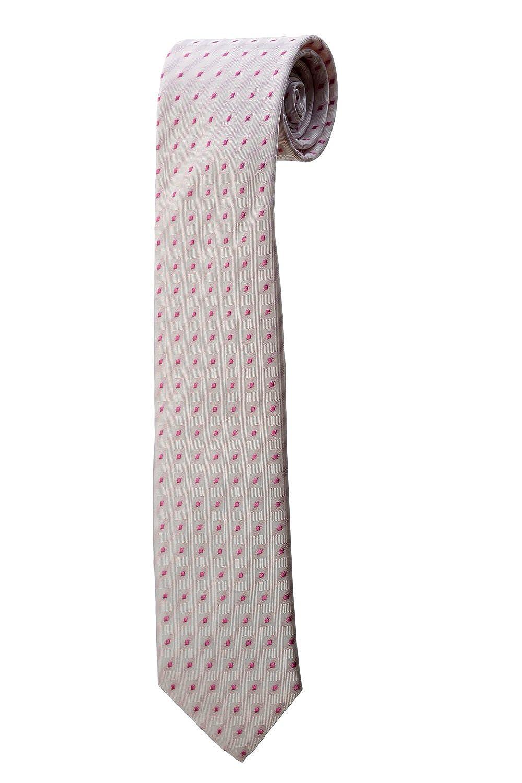 Corbata blanca de diseño cuadros rosas diseño disfraz hombre boda ...
