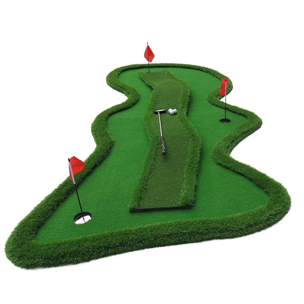 Djyyh スロープ変曲点、ミニインドアボールマットプラクティス毛布でゴルフパットプラクティスグリーン
