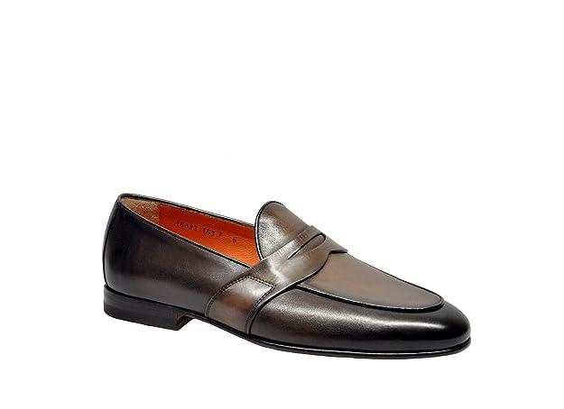 Men's MCNC16033LA3EGTRT53 Brown Leather Loafers