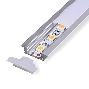 2 M Aluminio Perfil apta (at) 2 metros – Tira de – Perfil de