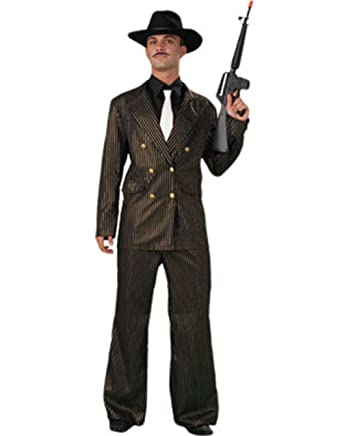908e769aab3 Amazon.com  Plus Size Gangster Costume - Mens Full 44-48  Clothing