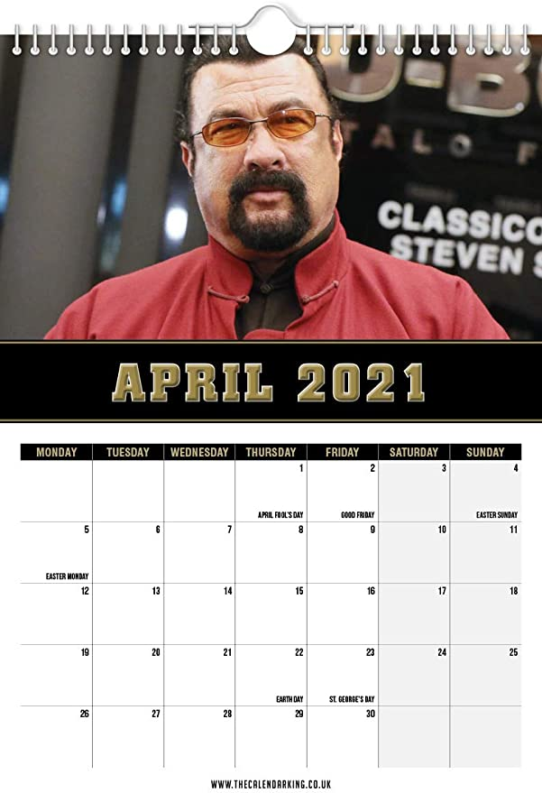 Steven Seagal 2020-2021 Wall Calendar //// Mid Year June 2021 - Funny//Quirky July 2020 Birthday//Gift Idea//Present -