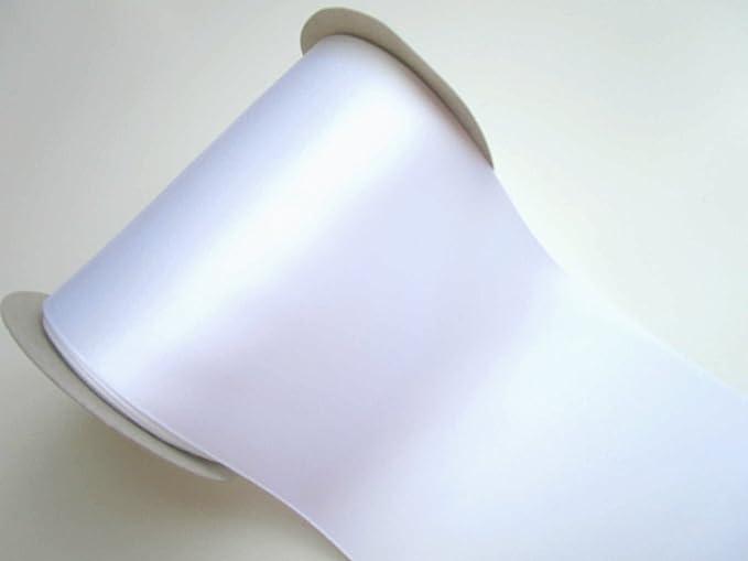 Bianco 10 m x 10 cm nastro di raso