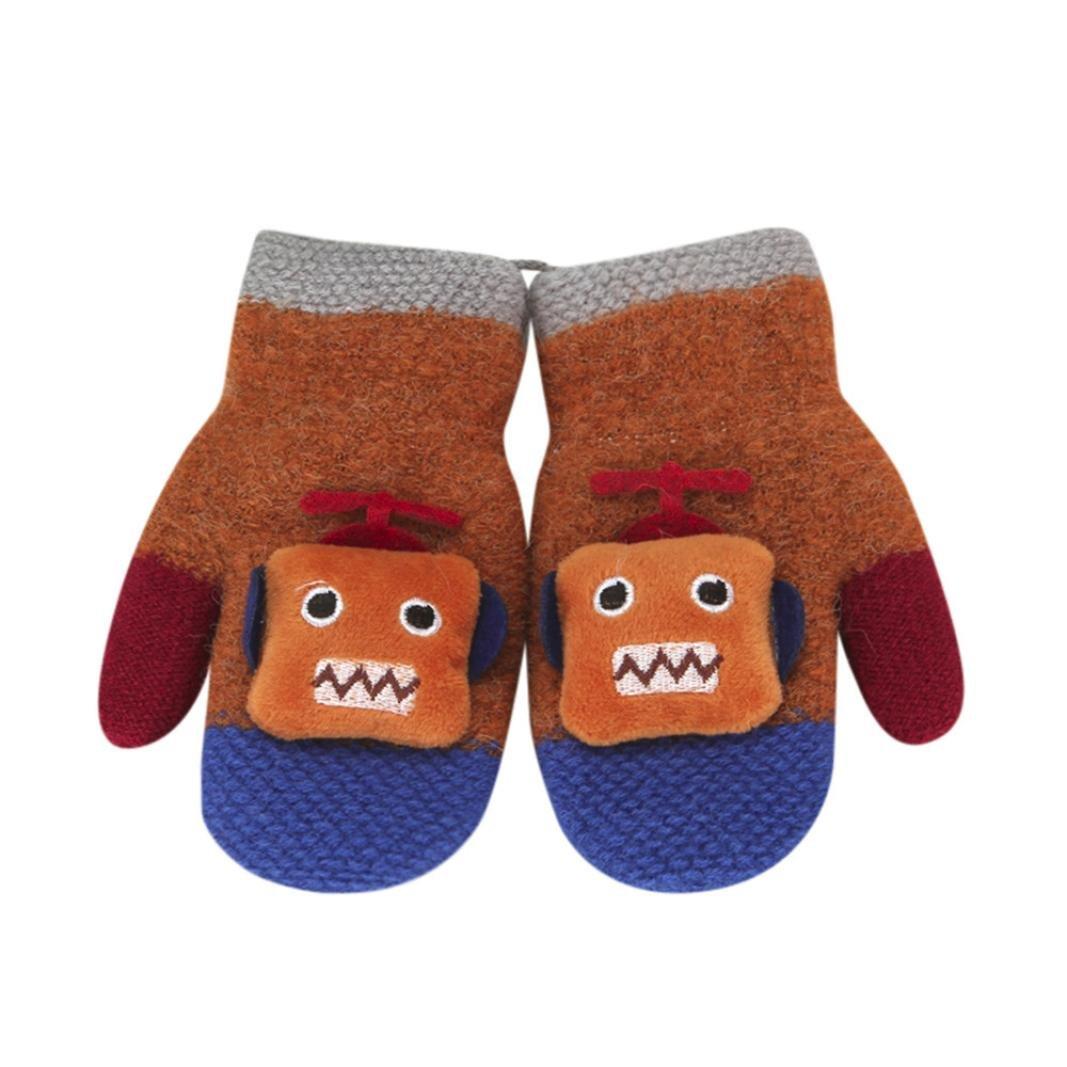 Kinder Winter Handschuhe M/ädchen Jungen Baby F/äustlinge Niedliche Sterne Druck Unisex Handschuhe Warme Handw/ärmer 1-5 Jahre
