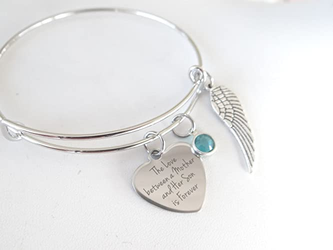 amazon com the love between a mother and son is forever bracelet
