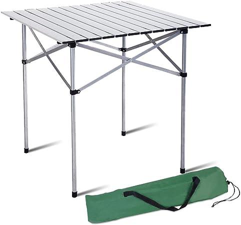 LBSX Mesa, Mesa Plegable de Aluminio Liviana, Mesa portátil de ...