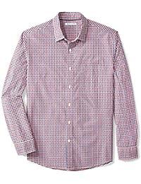 Men's Regular-Fit Long-Sleeve Gingham Shirt