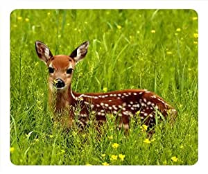 Little Cute Pet Design Oblong Mouse Pad Sika Deer