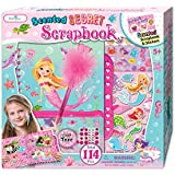 SmitCo LLC Scrapbook Kit For Girls - Mermaid Scrapbooking Arts and Crafts Gifts Sets for Kids 5 Years and Older - Includes Album With Passcode Lock, 3D Stickers, Jewels and More For Hours of Fun