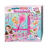 SmitCo LLC Scrapbook For Kids, Starter Craft Set For Girls/Beginners In Mermaid Theme, Gift Set Includes Scented Scrapbook With Lock, 3D Stickers, Jewels, Feather Pen, 1 Craft Tape, 1 Pencil Pouch
