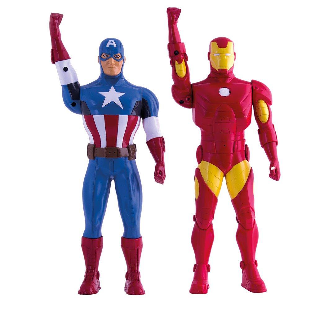Avengers Assemble Walkie-Talkie Figures Iron Man & Captain America Toys Marvel Gadgets by IMC Toys (Image #1)