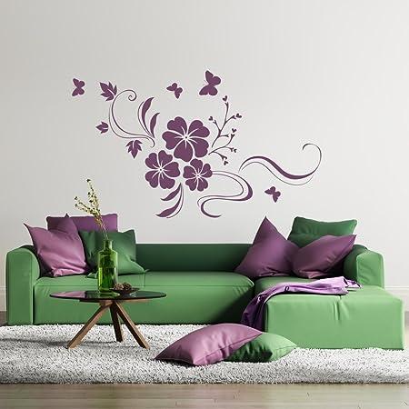 Adhesivo decorativo para pared con diseño de flores de diseño de ...