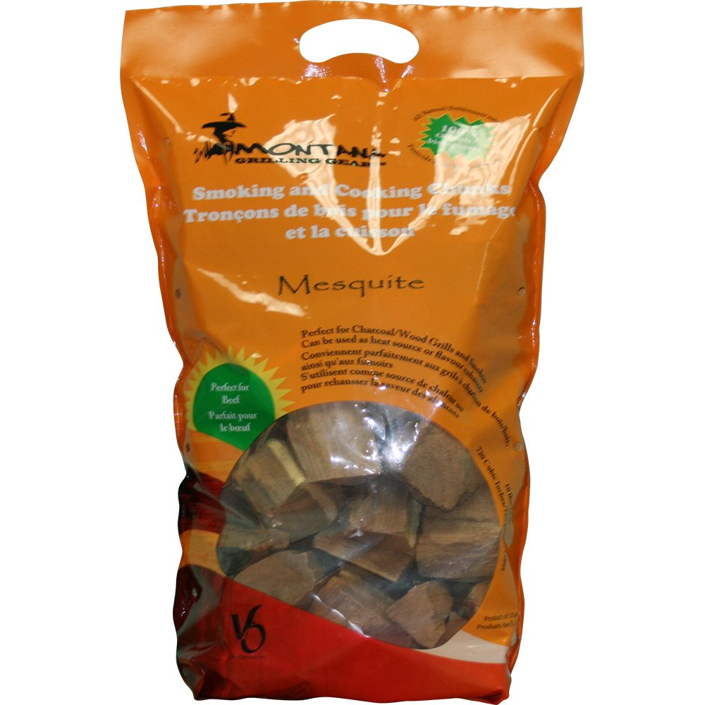 Montana Grilling Gear Smoking and Cooking Wood Chunks - 100% Organic and Pesticide Free - Safe for Grills and Smokers - 10lb Bag - Mesquite - WCH10-MM by Montana Grilling Gear
