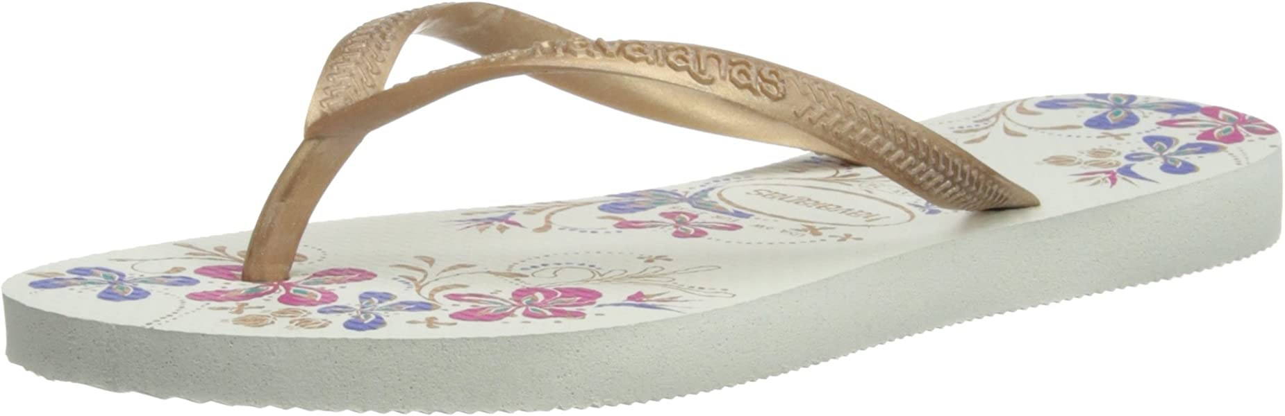 6b2c3ff8efe3f Havaianas Womens Slim Season Thong Sandals White Rose Gold 33 34   Amazon.co.uk  Shoes   Bags
