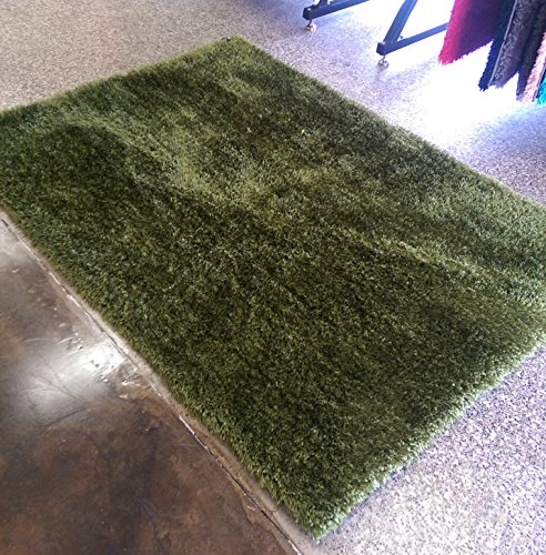 CHIC RUGZ SVS 5X7HunterGreen Living Room Shag Area Rug, 5′ x 7′, Hunter Green