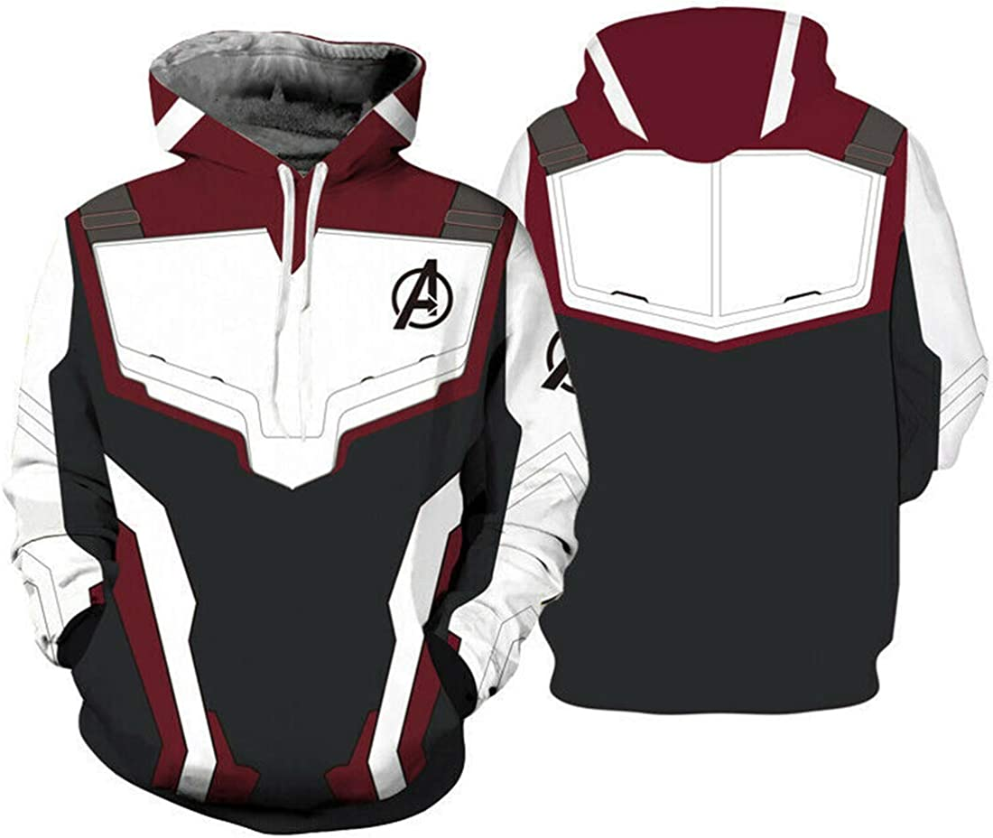 Avengers 4 Endgame Advanced Tech Hoodies Sweatshirts Cosplay Sweater Jacket Coat