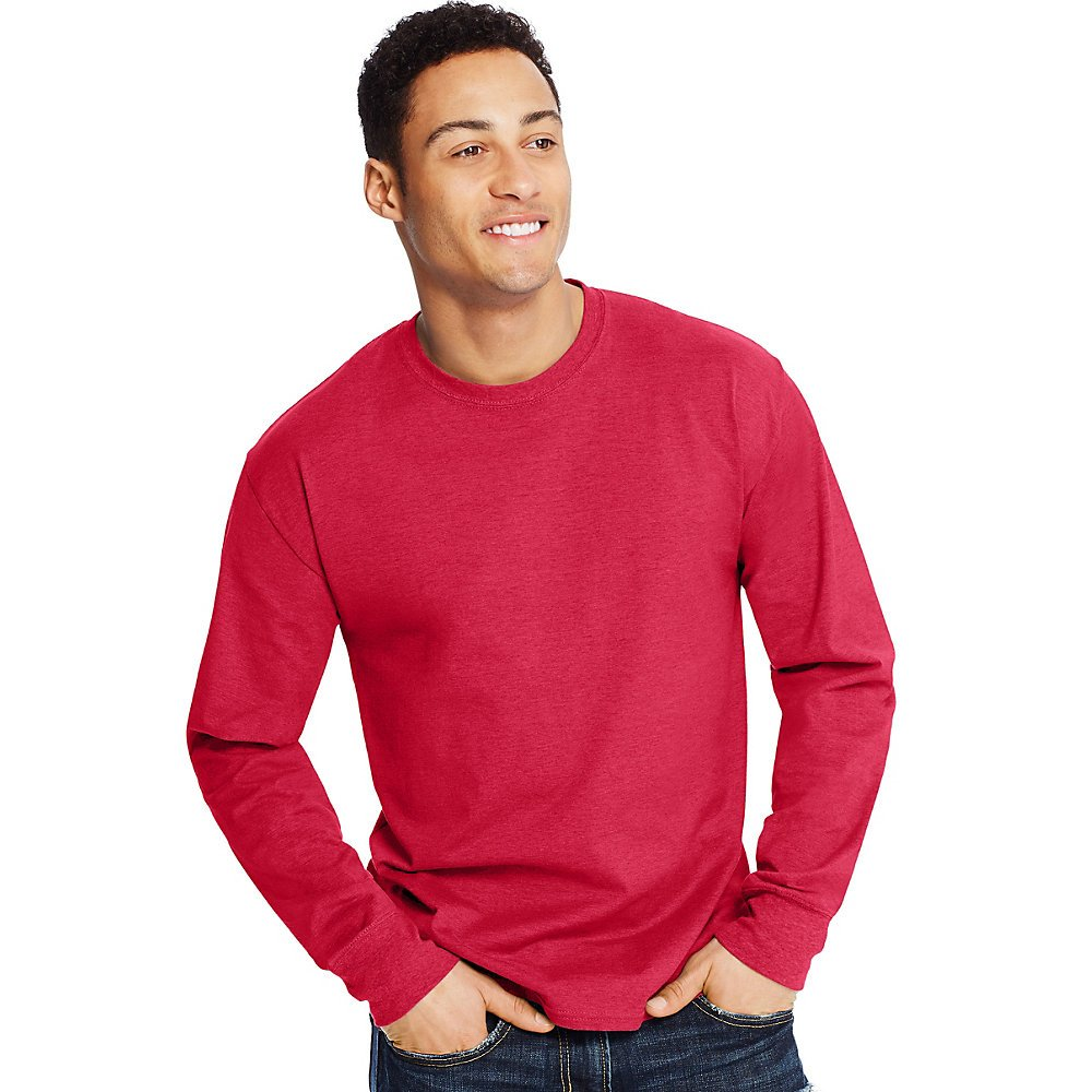 8adb7fbd485 Hanes Mens X-Temp Long-Sleeve T-Shirt (O5716)