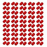 uxcell 100pcs 13mm Dia Red Rubber Thread Round Cabinet Chair Leg Insert Cover Protector