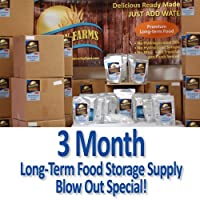 3 Month Long Term Emergency Food Supply Kit - Eden Valley Farms
