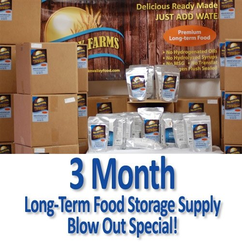3 Month Long Term Emergency Food Supply Kit - Eden Valley Farms (Best Emergency Food Supply Kit)