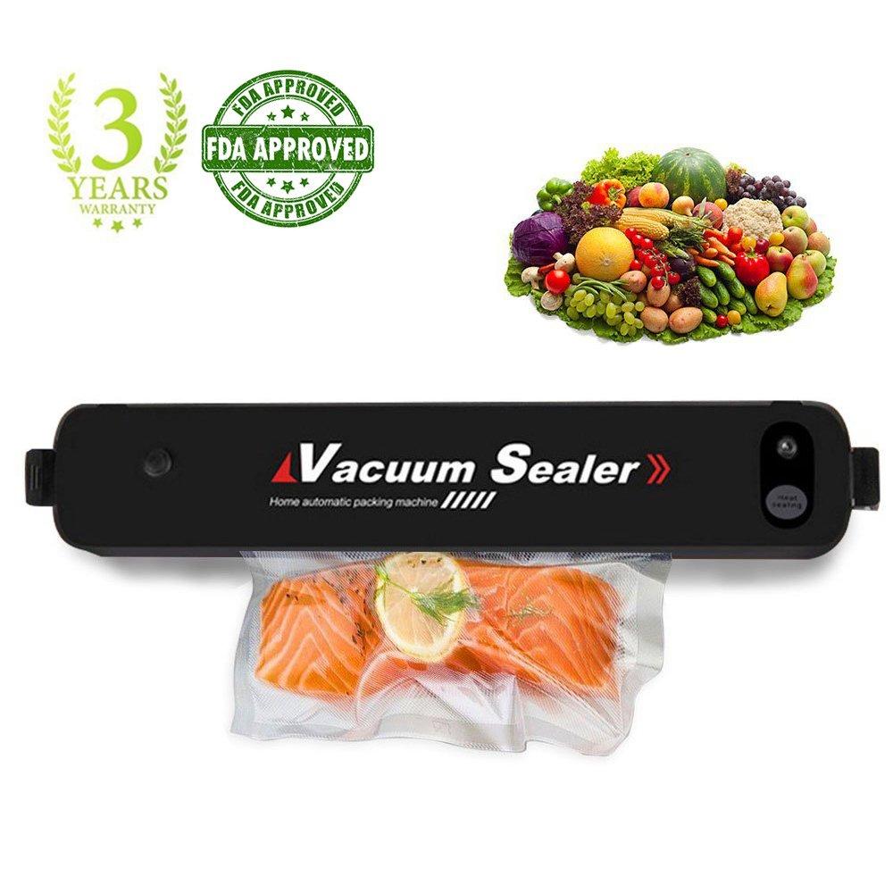 MABOLON Vacuum Sealer Machine, Automatic Vacuum Sealer, Portable Compact Vacuum Sealing System for Vacuum and Seal, Cooking Mufti-function including Foods Saver Vacuum Sealer Bags
