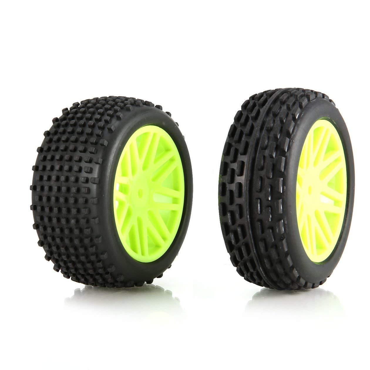 4pcs 86mm Rim Rubber Tires Tyre Wheel for 1/10 RC Crawler Car Model