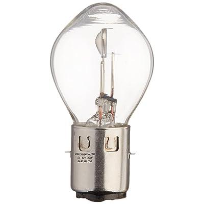 S2 12V 35/35 Watt Bulb - Premium 12V Scooter Head Light Lamp Bulb by Precision Auto \ B35 BA20D Base / 50cc 150cc 250cc Scooter, Motorcycle, Moped, Znen, Jonway, Tank, Baron, GY6