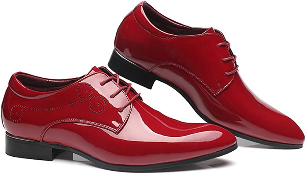 Mens Smooth PU Leather Shoes Classic Lace Up Hollow Carving Formal Business Lined Oxfords