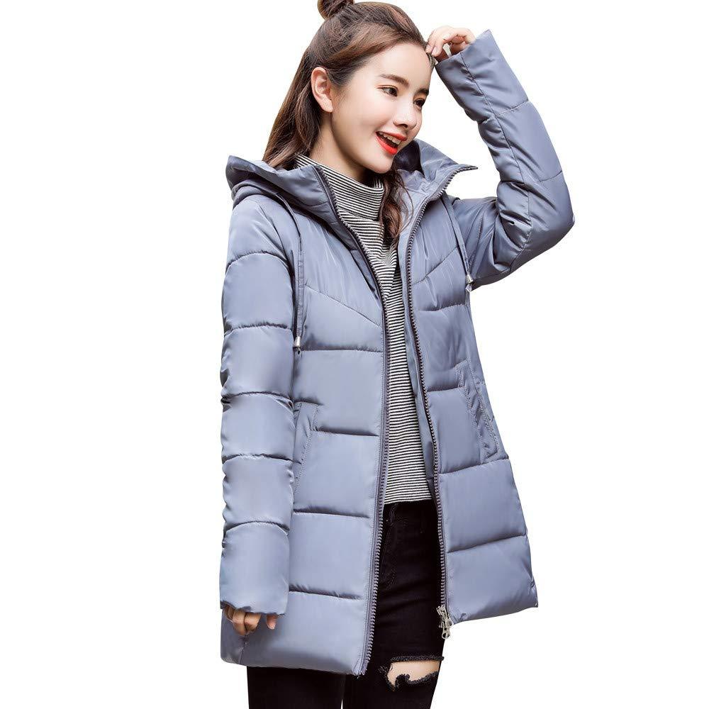Seaintheson Women's Coats OUTERWEAR レディース B07HRDSDZ1 Medium|グレー グレー Medium