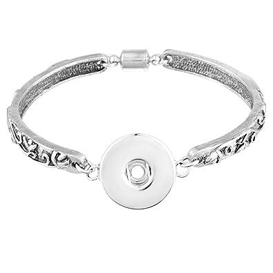 Souarts De Bouton Bijoux Pour Bracelet Motifs Aimant Sculpture Femme IvY6bfm7gy