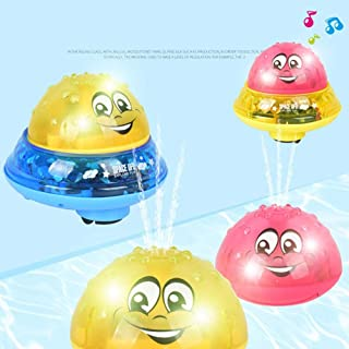 Sprinkler Ball Toy,Spray Water Baby Bath Toy,Floating Bath Toys with Light,Automatic Electric Induction Sprinkler Toy,Amphibious Interesting Light Music Toys,Birthday Gift for Toddler Kid Party Toy