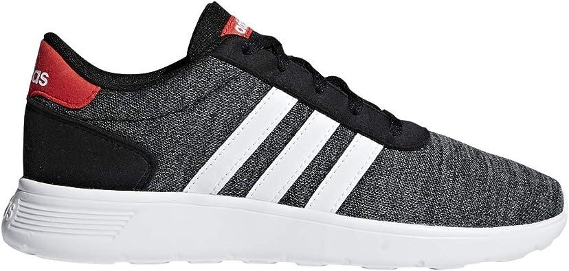 Amazon.com: adidas Lite Racer K Black/White/Red Running Shoes 2.5 ...