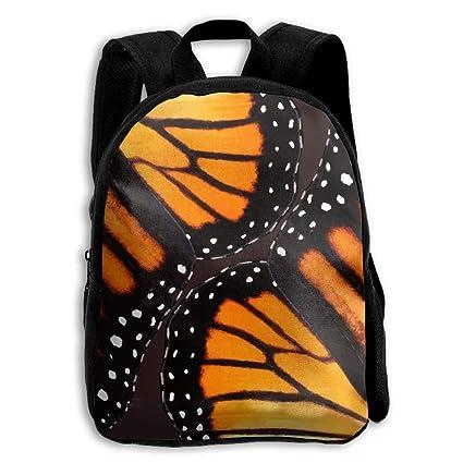 ERTOUGN22 - Mochila Escolar para niños, diseño de alas de Mariposas de monarca, Color