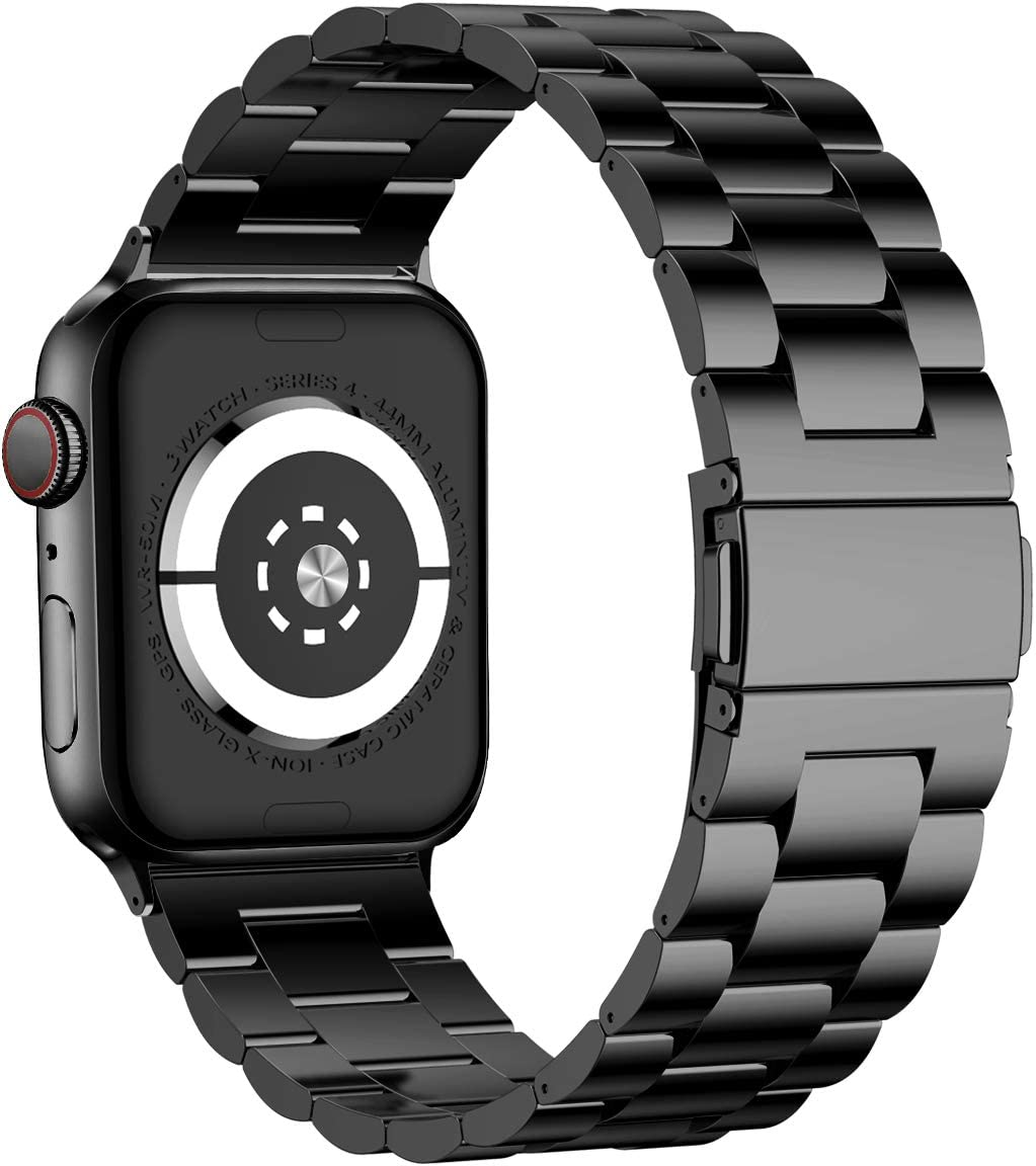 iiteeology Compatible with Apple Watch Band 38mm 40mm, Stainless Steel iWatch Band Replacement Strap for iWatch SE & Series 6 5 4 3 2 1 - Black