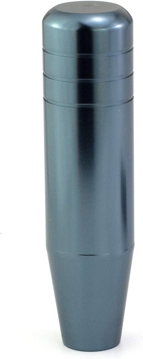 Thruifo 7.09 Gear Stick Shifter Head Silver Bullet Shape Aluminum Alloy Car Shift Knob Fit Most Manual Automatic Vehicles