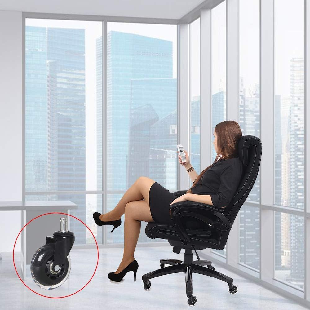 YeMI Rotelle per Mobili Ruote per Sedia da Ufficio Silenzioso,Liscio,Non Rigatura Set di 5 3//75mm 11X22mm