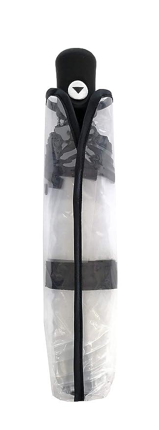 Amazon.com: SMATI Clear Folding Umbrella - Compact - Automatic Open - Sturdy - Black cats - French Design (Clear): UMBRELLA REPUBLIC