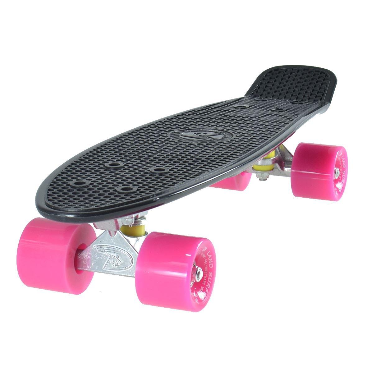 【初回限定】 Land B00K1A5OCSLand Surferクルーザースケートボード22インチブラックボードピンクホイール B00K1A5OCS, のレン:510daea2 --- 4x4.lt