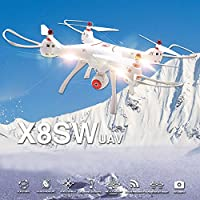 Cewaal X8SW Wifi FPV Quadcopter Drone 720P HD Camera Altitude Hold RC 2.4G 4CH 6 Axis Drone