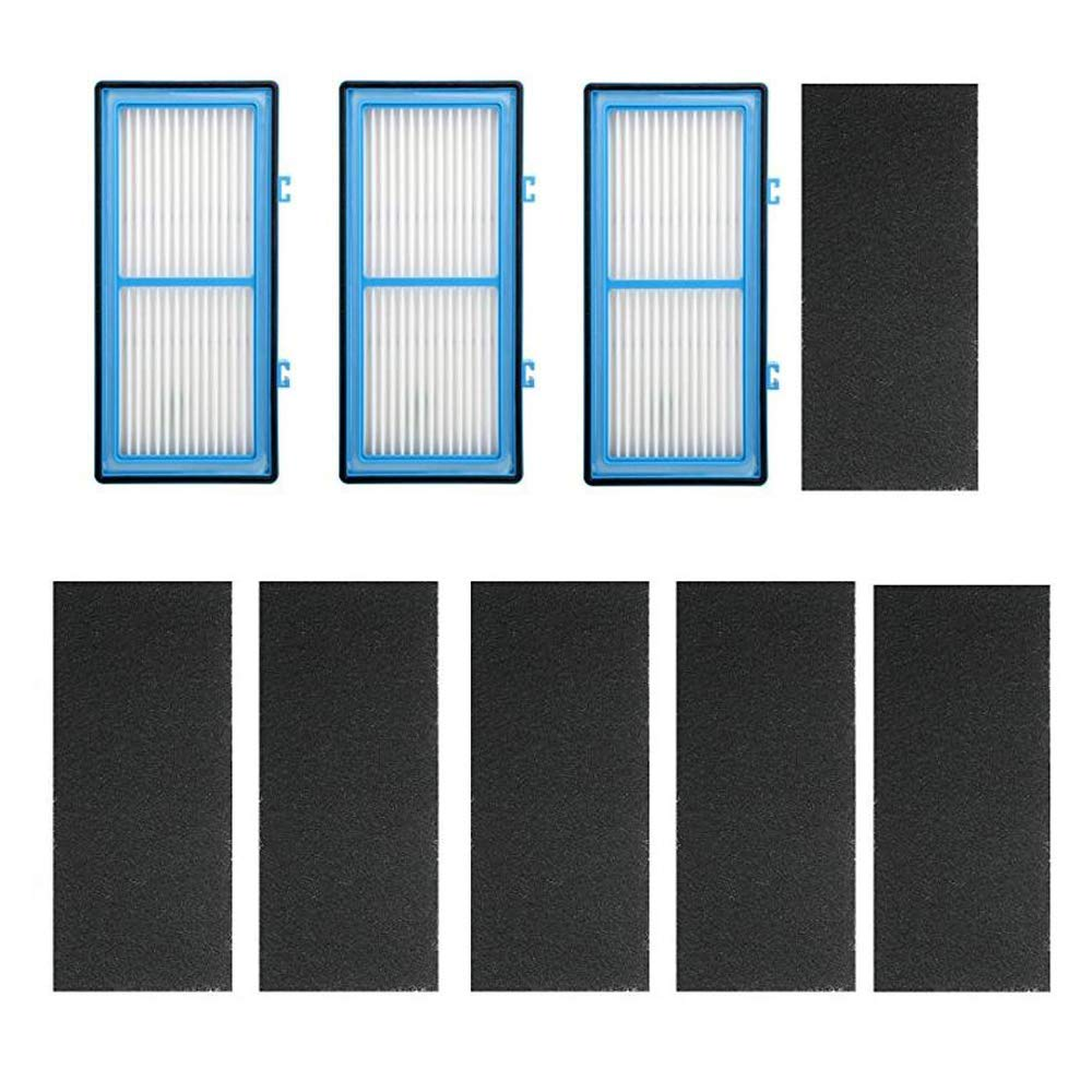 Yonice Replacement 3 HEPA Air Filter + 6 Carbon Booster Filters Holmes AER1 Series